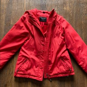 Red Puffy Coat American Eagle